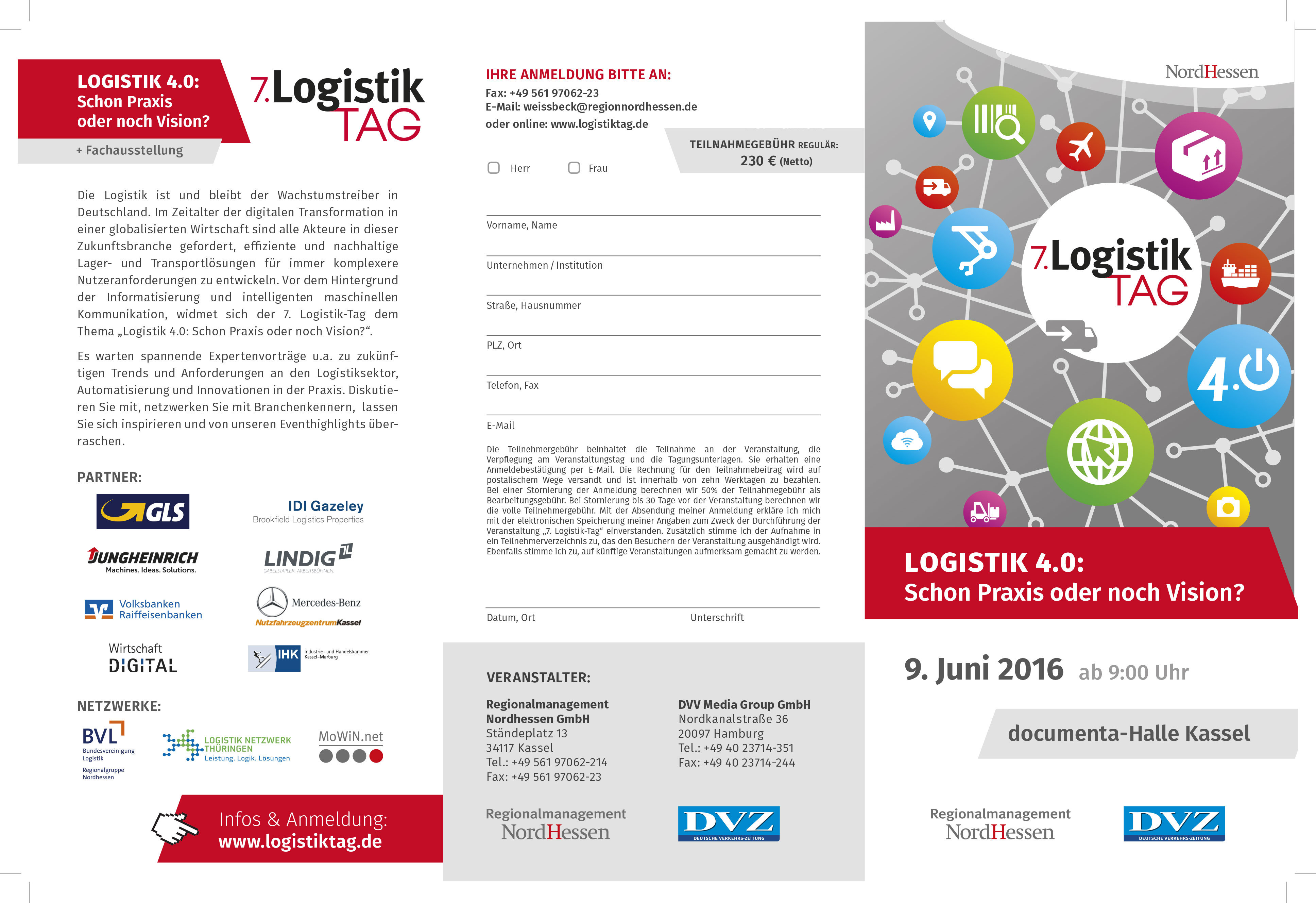7 logistik tag am 9 juni 2016 in kassel logistic. Black Bedroom Furniture Sets. Home Design Ideas